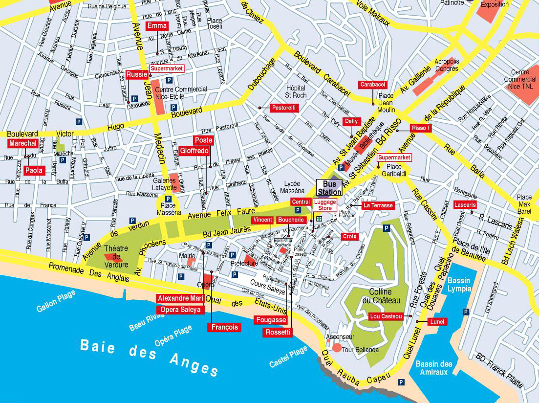 Nice Pebbles Map of Apartments Nice France